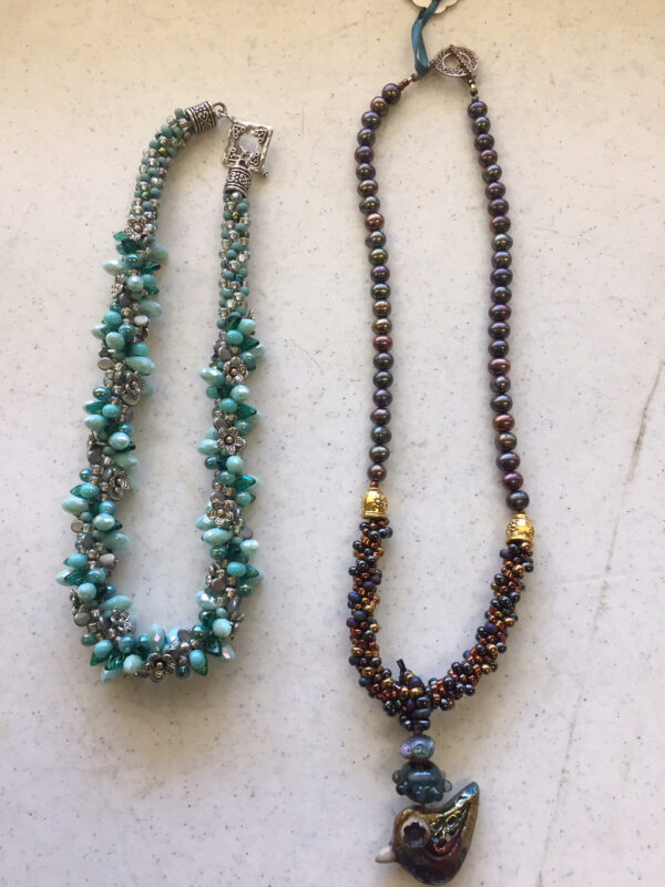 Kumihimo necklaces by Anne DeStefano