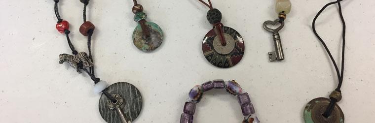 Cord and Stone Pendants