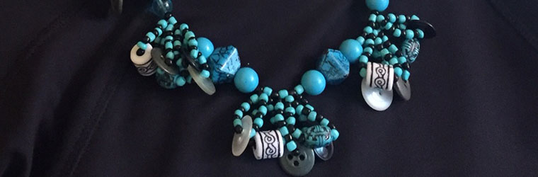 Bead and Button Necklace