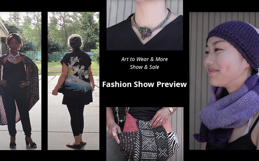 Fashion show preview for Art to Wear & More Show & Sale